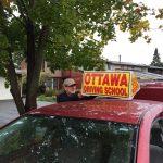 オタワで運転の練習始めました。